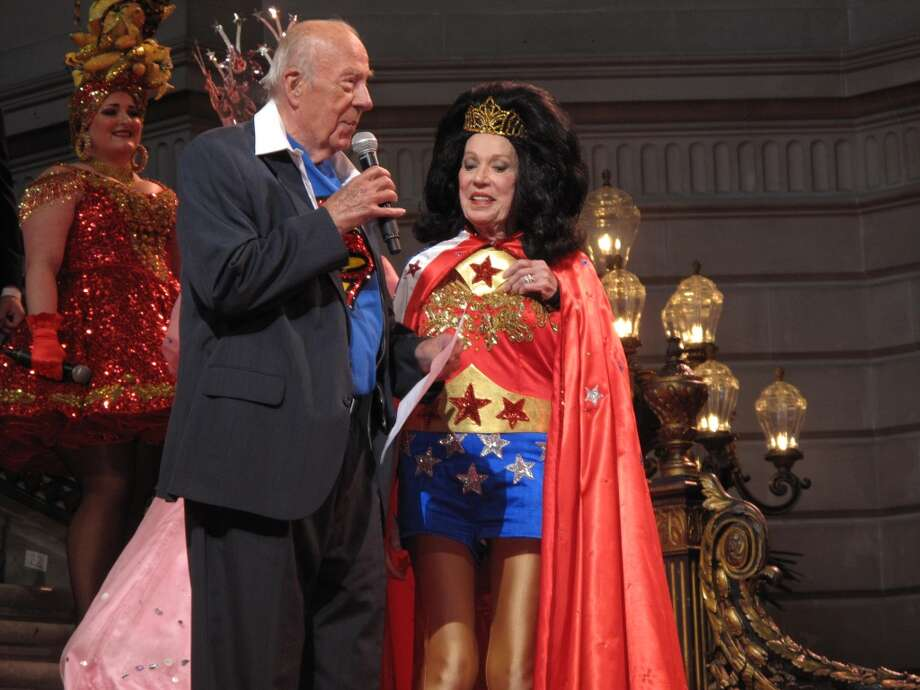 George Shultz is Superman and Charlotte Shultz is Wonderwoman Photo: Leah Garchik