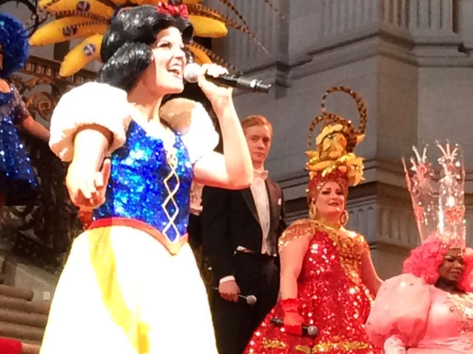 Wilson, Harwood and Renee Lubin as Glinda Photo: Leah Garchik