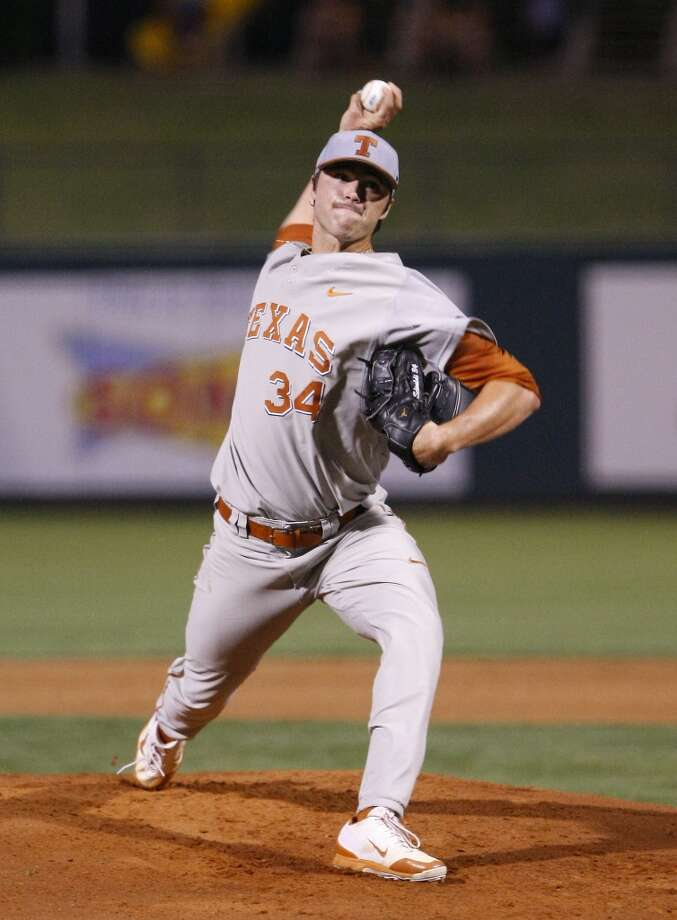 Lukas Schiraldi, RHP, Texas  Seattle Mariners, 15th round, No. 441 overall Photo: Alonzo Adams, AP
