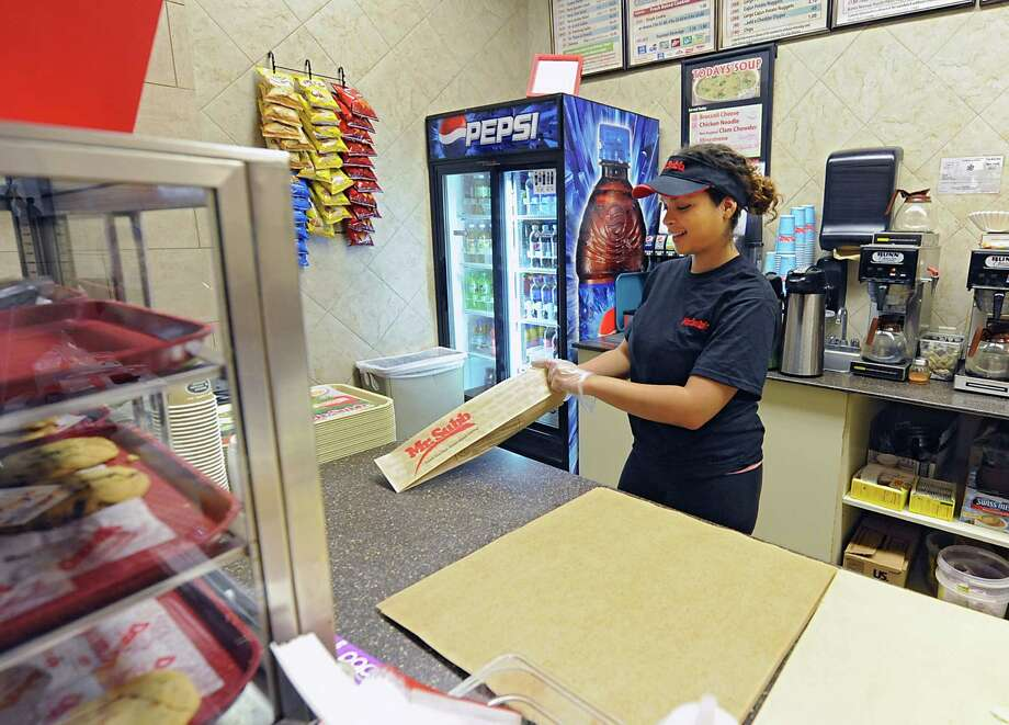 Krystal Hogan works at her Mr. Subb job in Colonie Center on Wednesday, June 4, 2014 in Colonie, N.Y.  (Lori Van Buren / Times Union) Photo: Lori Van Buren / 00027195A