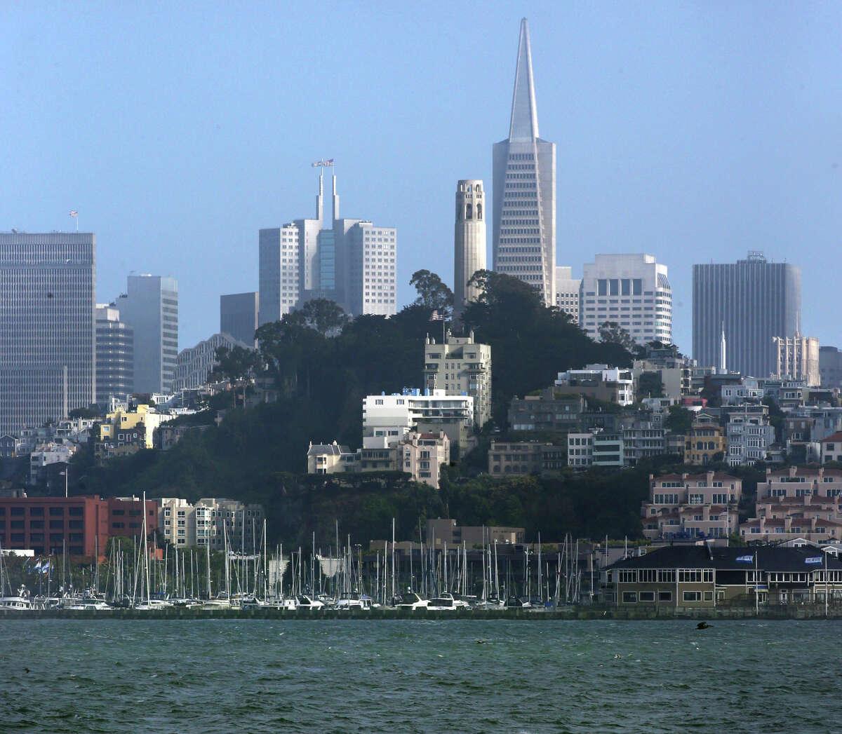 The skyline of San Francisco, Ca., on Thursday June 5, 2014, as seen from the Alcatraz Ferry.