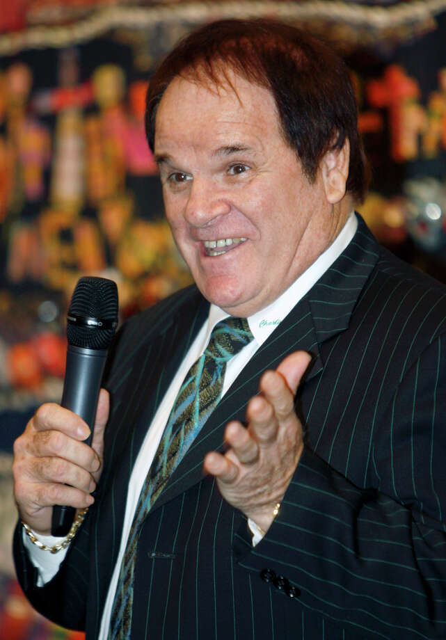 FILE - This May 14, 2011 file photo shows former Major League Baseball great Pete Rose speaking at the Ohio Justice & Policy Center's inaugural gala at the National Underground Railroad Freedom Center, in Cincinnati. Rose is taking a swing at his own reality TV show. Cable's TLC network says it has started production on an unscripted series to chronicle the lives of baseball's all-time hitting leader and his fiancee, model Kiana Kim.  (AP Photo/David Kohl, File) Photo: David Kohl, Associated Press / Associated Press