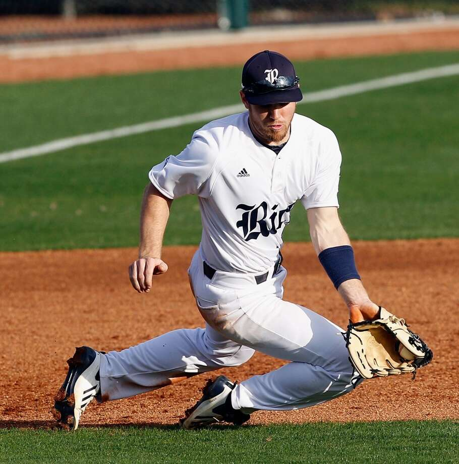 Shane Hoelscher, 3B, Rice  17th round - No. 503 overall - Colorado Rockies  Not pictured:   Michael Clemens, RHP, McNeese State (The Woodlands HS)  17th round - No. 521 overall - Pittsburgh Pirates  Jeremy Rivera, SS, El Paso Community College  17th round - No. 524 overall - Boston Red Sox  John Bormann, C, Texas-San Antonio  19th round - No. 569 overall - Los Angeles Angels  Argenis Angulo, RHP, Ranger College  19th round - No. 578 overall - Cleveland Indians  Photo: Bob Levey