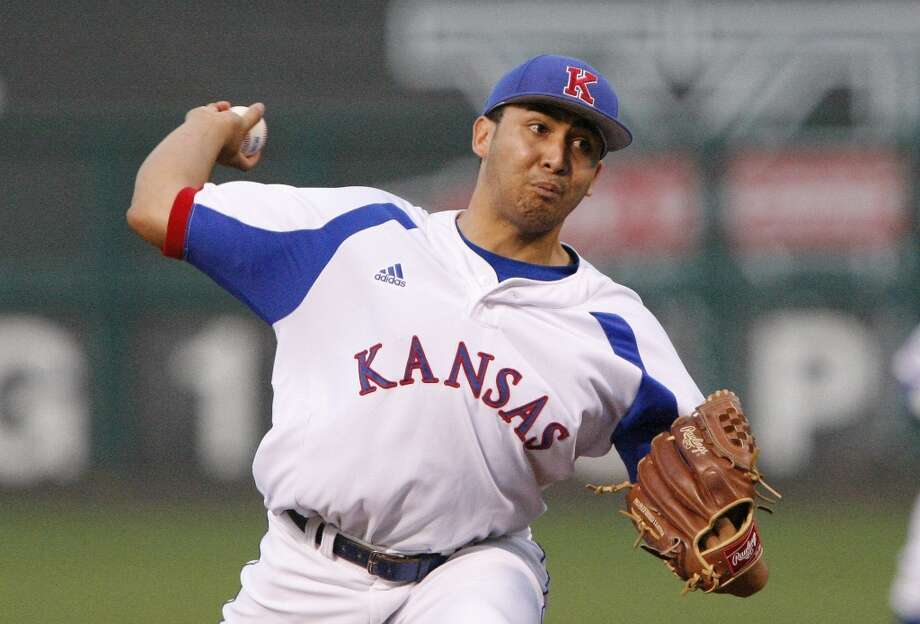 32nd round - No. 946 overall  Robert Kahana, RHP, 6-2, 221, Kansas  Not pictured:  33rd round - No. 976 overall  Edwin Medina, OF, 5-8, 170, St. Thomas University (Fla.)  34th round - No. 1006 overall  Joshua James, RHP, 6-3, 200, Western Oklahoma State  35th round - No. 1036 overall  Keegan Yuhl, RHP, 6-0, 220, Concordia University (Calif.)  36th round - No. 1066 overall  Justin Ferrell, RHP, 6-7, 190, Connors State (Okla.)  37th round - No. 1096 overall  Eric Peterson, RHP, 6-4, 195, North Carolina State  38th round - No. 1126 overall  Michael Foster, 2B, 5-11, 184, Northeastern  39th round - No. 1156 overall  Brad Antchak, SS, 6-0, 182, Northeastern Oklahoma A&M Photo: Alonzo Adams, AP