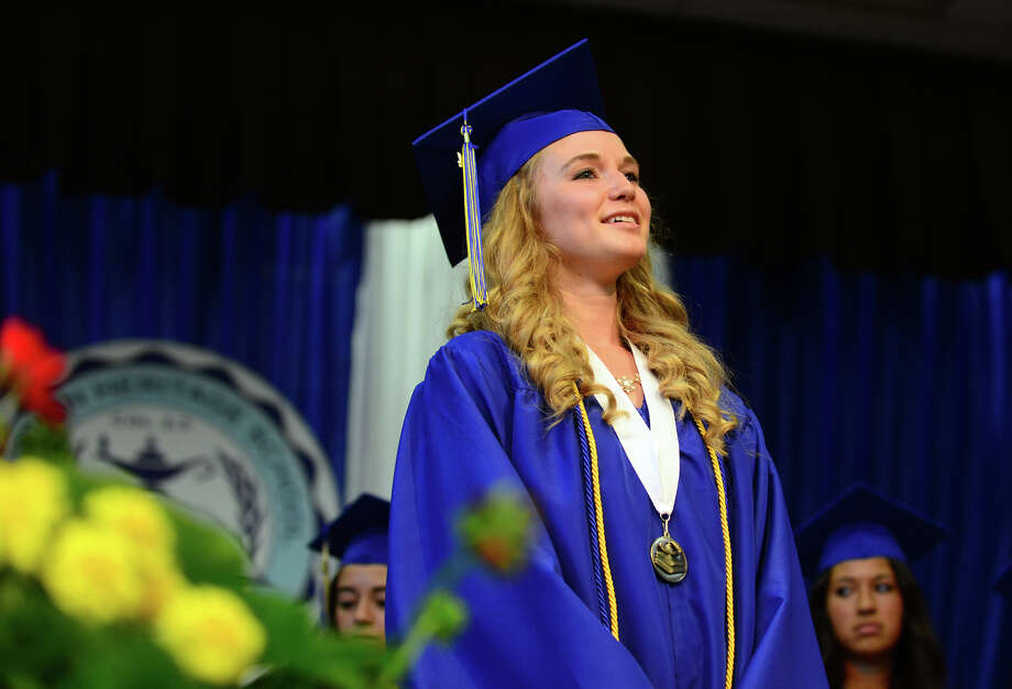 Graduate Dawn Williams, of Fairfield, during the 31st Commencement Exercises of Christian Heritage School in Trumbull, Conn. on Saturday June 7, 2014. Photo: Christian Abraham / Connecticut Post