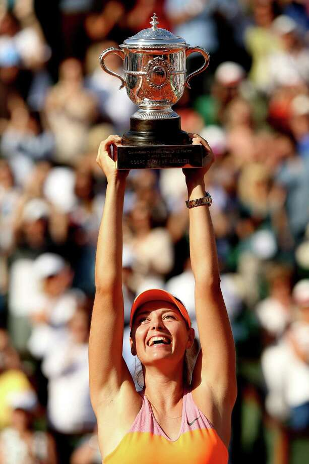 Russia's Maria Sharapova surprises herself by having more French Open titles (two) than any other major (one each). Photo: Matthew Stockman, Staff / 2014 Getty Images