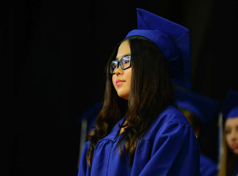 Graduate Vera Hao, of Trumbull, during the 31st Commencement Exercises of Christian Heritage School in Trumbull, Conn. on Saturday June 7, 2014. Photo: Christian Abraham / Connecticut Post