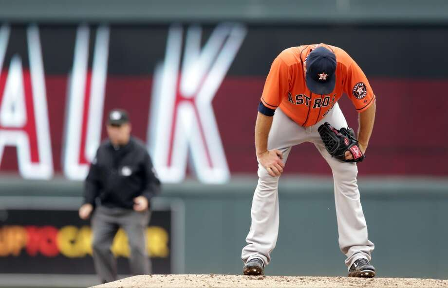 June 7: Twins 8, Astros 0  Scott Feldman was shelled as Houston was shutout in the second game of the series in Minnesota.  Record: 27-36. Photo: Jim Mone, Associated Press