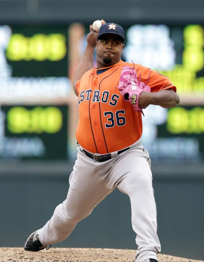Jerome Williams pitches. Photo: Jim Mone, Associated Press