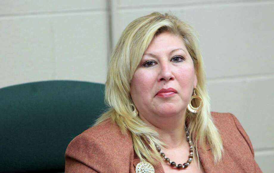 Hempstead Superintendent Delma Flores-Smith attends the Hempstead ISD Board of Directors meeting which is scheduled a meeting to review her contract on May 13, 2014, in Hempstead, Tx. ( Mayra Beltran / Houston Chronicle ) Photo: Mayra Beltran, Staff / © 2014 Houston Chronicle