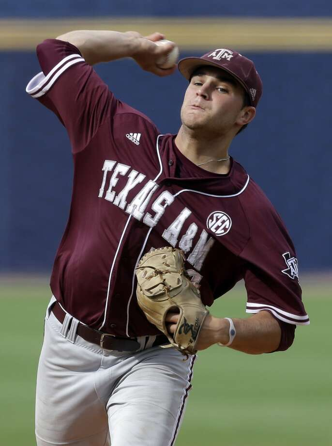 Parker Ray - Texas A&M, RHP  38th round - Miami Marlins Photo: Dave Martin, Associated Press