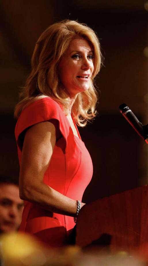 Wendy Davis speaks to at the Texas LULAC State Convention banquet. Photo: Karen Warren, Houston Chronicle / © 2014 Houston Chronicle