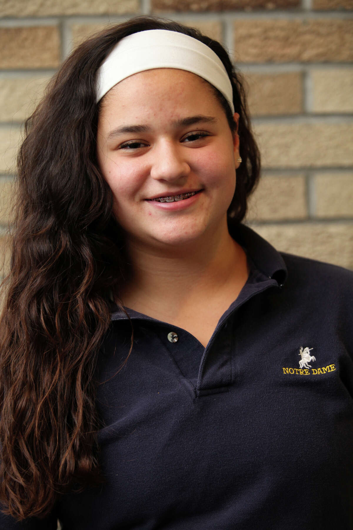 Notre Dame high school, in Fairfield, girls hockey player Becky Stefanatos, is the CT Post Female Athlete of the Week on Monday, December 10, 2012.
