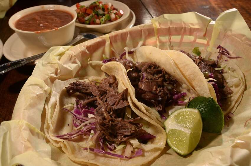 Beef tacos at Tia Juanita's Fish Camp. Photo taken Thursday, May 21, 2014 Guiseppe Barranco/@spotnewsshooter
