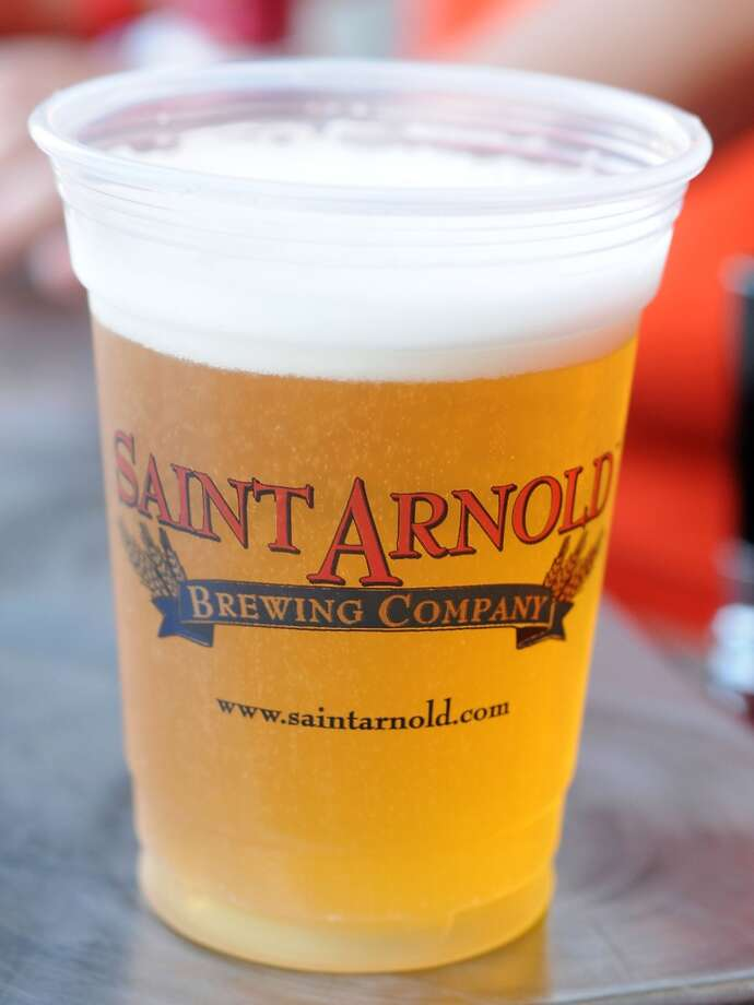 A cup of fresh beer sits at the 20th Anniversary party at Saint Arnold Brewing Co.  Saturday June 07, 2014. Photo: Dave Rossman, For The Houston Chronicle