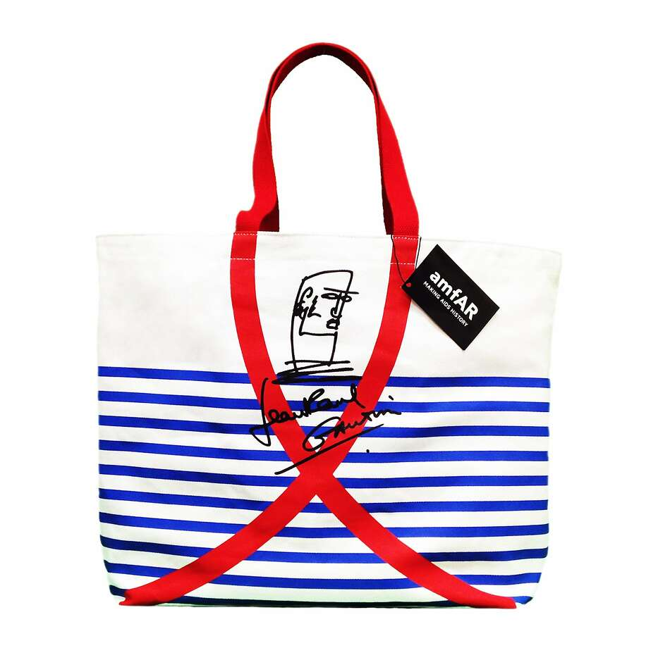 Raise FundsLegendary French designer Jean Paul Gaultier has earned his stripes - shown in this limited-edition bag created to raise money for amfAR, the Foundation for AIDS Research; all of the purchase price goes to raise awareness and money to help find a cure for HIV/AIDS. Jean Paul Gaultier bag, $35, Bloomingdale's or http://shop.amfar.org. Photo: AmfAR