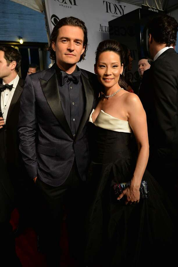 Actors Orlando Bloom and  Lucy Liu attend the 68th Annual Tony Awards at Radio City Music Hall on June 8, 2014 in New York City. Photo: Mike Coppola, (Credit Too Long,  See Caption)