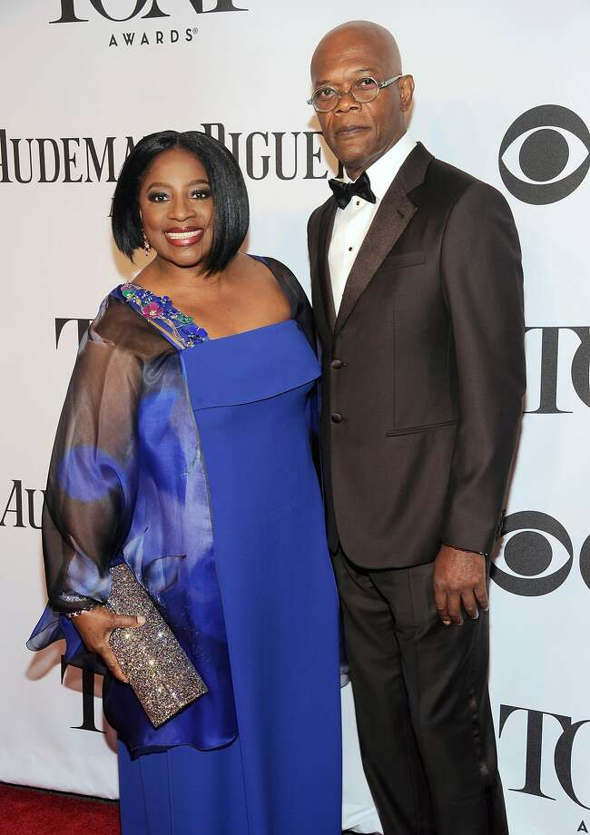 Samuel L. Jackson, right, and LaTanya Richardson arrive at the 68th annual Tony Awards at Radio City Music Hall on Sunday, June 8, 2014, in New York. (Photo by Charles Sykes/Invision/AP) Photo: Charles Sykes, Associated Press