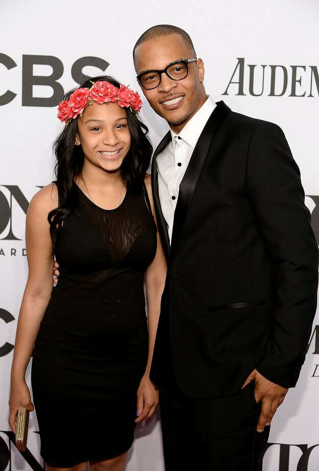 Deyjah Imani Harris (L) and T.I. attend the 68th Annual Tony Awards at Radio City Music Hall on June 8, 2014 in New York City. Photo: Dimitrios Kambouris, (Credit Too Long, See Caption)