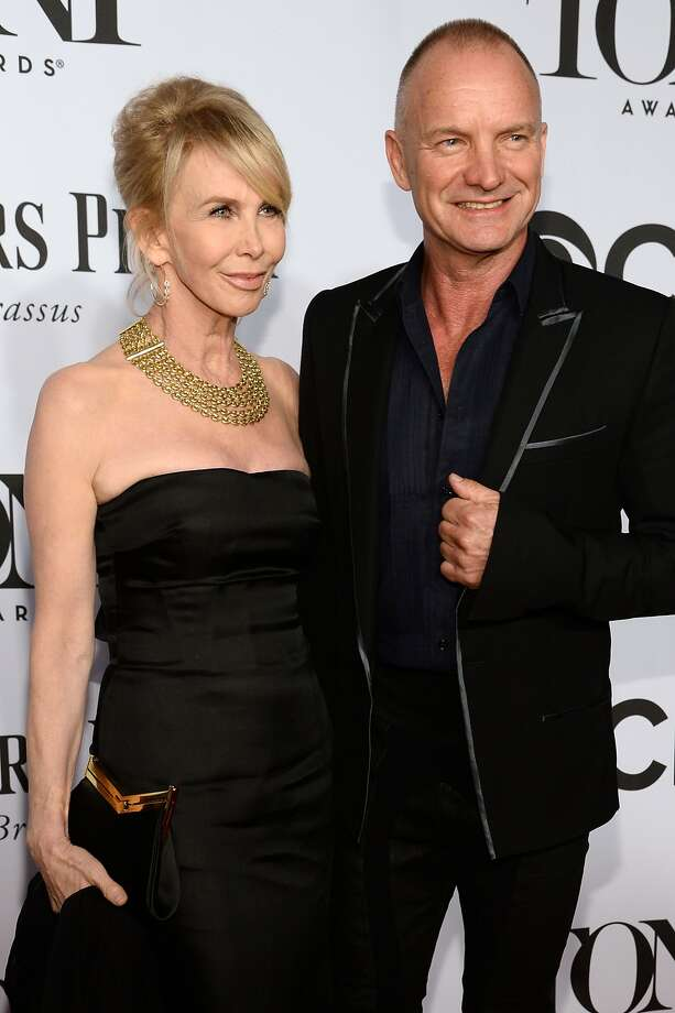 Trudie Styler and Sting attend the 68th Annual Tony Awards at Radio City Music Hall on June 8, 2014 in New York City. Photo: Dimitrios Kambouris, (Credit Too Long, See Caption)