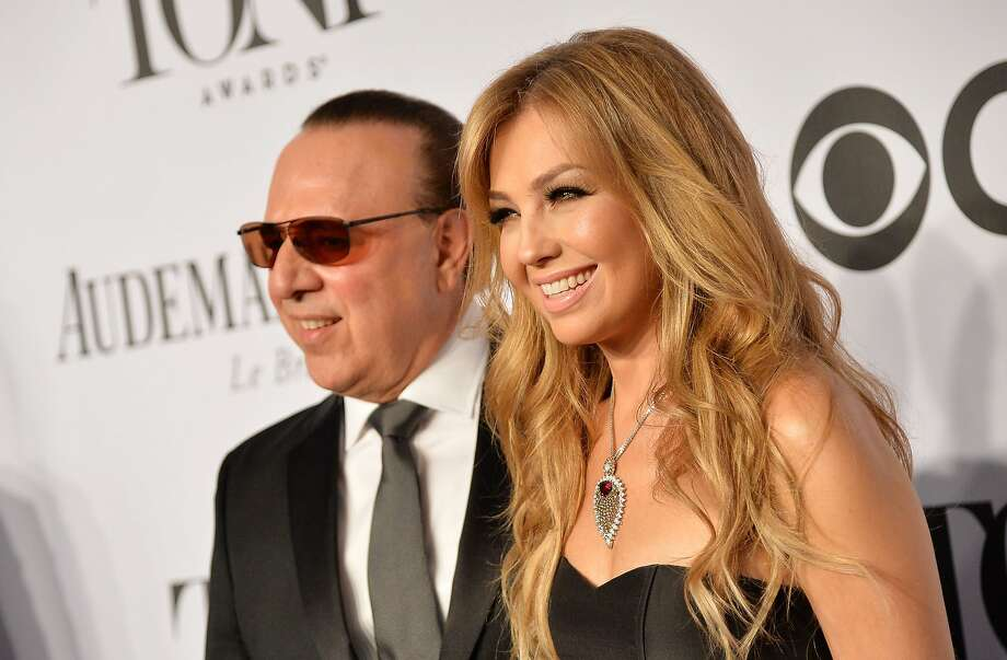Tommy Mottola and singer Thalia attend the 68th Annual Tony Awards at Radio City Music Hall on June 8, 2014 in New York City.  Photo: Mike Coppola, (Credit Too Long, See Caption)