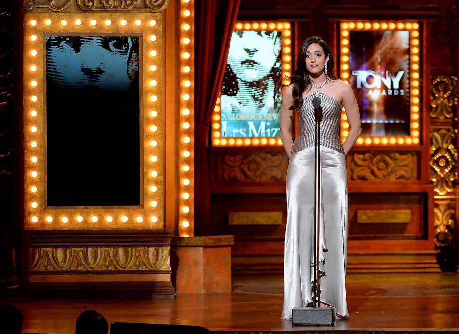 Actress Emmy Rossum speaks onstage during the 68th Annual Tony Awards at Radio City Music Hall on June 8, 2014 in New York City. Photo: Theo Wargo, (Credit Too Long, See Caption)