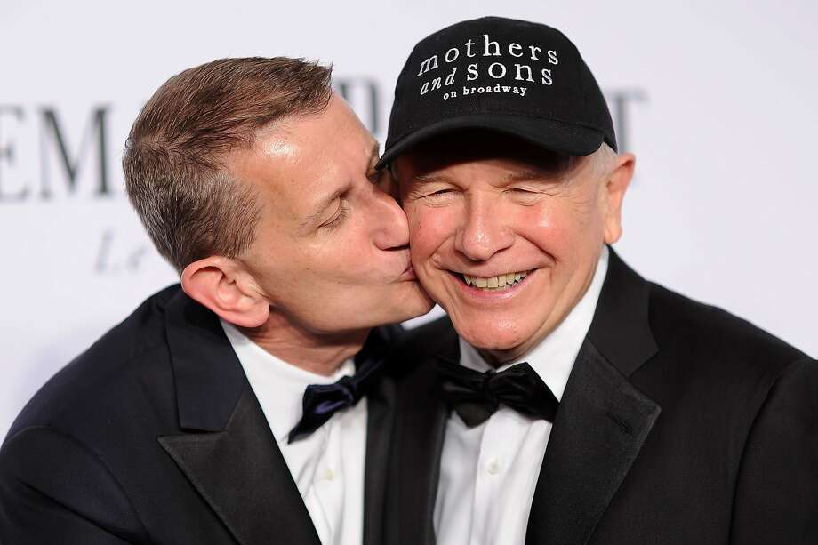 Thomas Kirdahy (L) and playwright Terrence McNally attend the 68th Annual Tony Awards at Radio City Music Hall on June 8, 2014 in New York City. Photo: Dimitrios Kambouris, (Credit Too Long, See Caption)