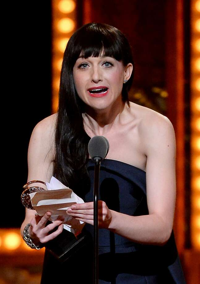 Lena Hall accepts the award for Best Performance by an Actress in a Feature Role in a Musical for Hedwig and the Angry Inch during the 68th Annual Tony Awards at Radio City Music Hall on June 8, 2014 in New York City.  Photo: Theo Wargo, (Credit Too Long, See Caption)