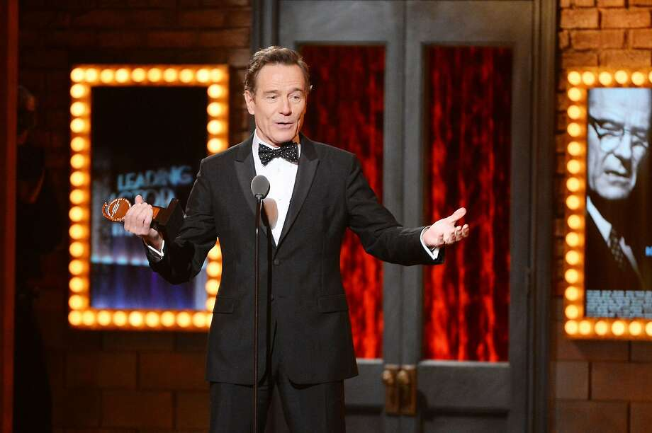 "Bryan Cranston accepts the award for Best Performance by an Actor in a Leading Role in a Play for ""All The Way"" onstage during the 68th Annual Tony Awards at Radio City Music Hall on June 8, 2014 in New York City. Photo: Theo Wargo, (Credit Too Long,  See Caption)"