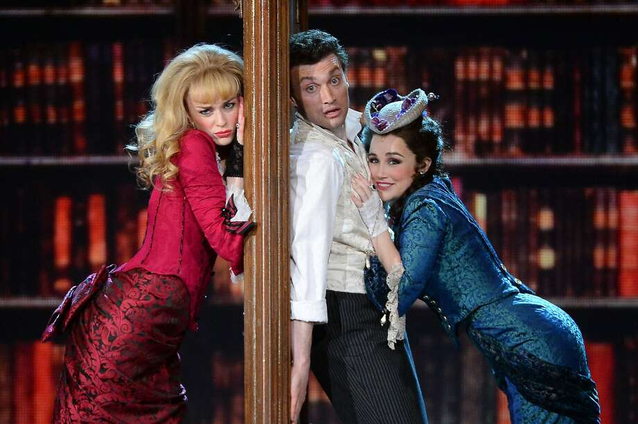 Lisa O'Hare, Bryce Pinkham and Lauren Worsham of 'A Gentleman's Guide To Love and Murder' perform onstage during the 68th Annual Tony Awards at Radio City Music Hall on June 8, 2014 in New York City.  Photo: Theo Wargo, (Credit Too Long, See Caption)