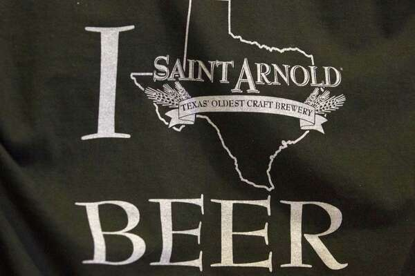 Shirts are for sale at Saint Arnold Brewing Co. on Tuesday, June 3, 2014, in Houston. ( J. Patric Schneider / For the Chronicle )