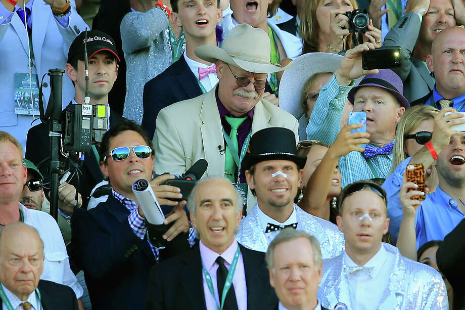 ELMONT, NY - JUNE 07:  Steve Coburn, co-owner of California Chrome reacts while watching the 146th running of the Belmont Stakes at Belmont Park on June 7, 2014 in Elmont, New York.  (Photo by Rob Carr/Getty Images) ORG XMIT: 482123983 Photo: Rob Carr / 2014 Getty Images