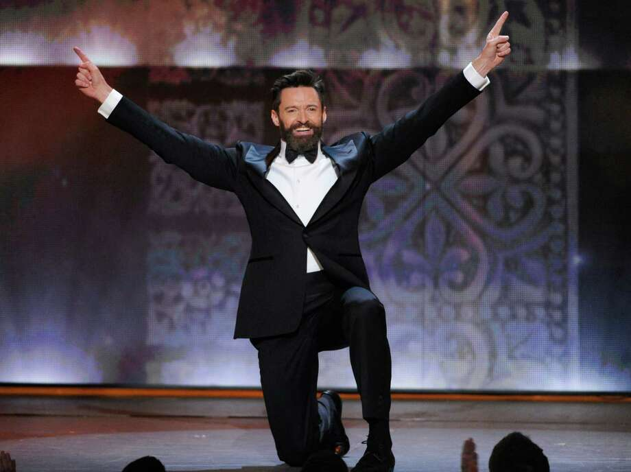 Host Hugh Jackman performs onstage at the 68th annual Tony Awards at Radio City Music Hall on Sunday, June 8, 2014, in New York. (Photo by Evan Agostini/Invision/AP) ORG XMIT: NYPM149 Photo: Evan Agostini / Invision