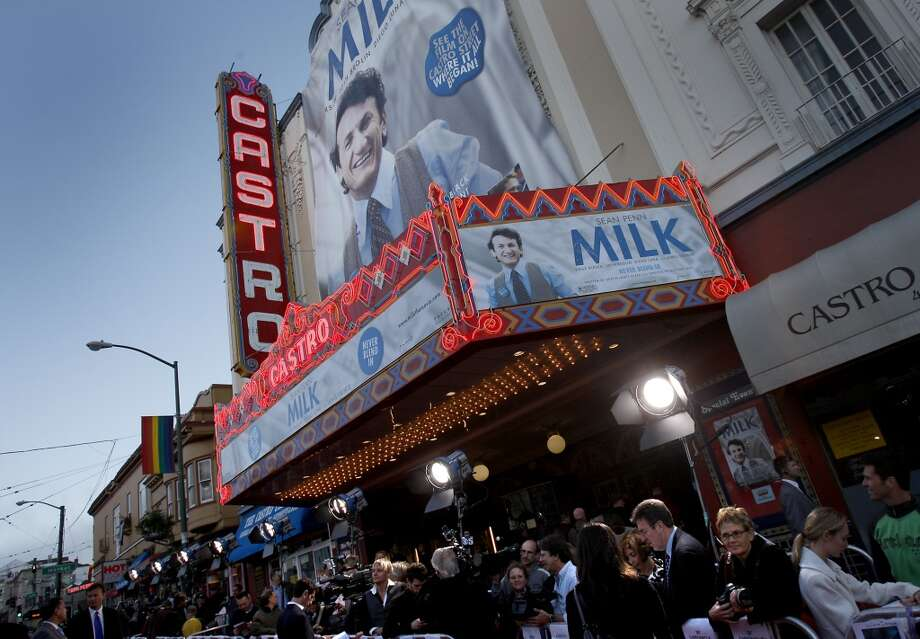"The Castro Theatre, 429 Castro St.    Built in 1922, the marquee got a facelift for the filming of ""Milk"" in 2008. The fare is diverse, from sing-alongs to film festivals, classic films, and Q&As. Photo: Brant Ward, The Chronicle"