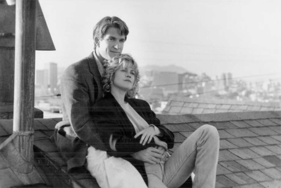 """Texas and 19th St., Potrero HillThe thriller """"Pacific Heights"""" actually filmed in Potrero Hill to get better views of downtown in the background. The movie starred Melanie Griffith and Matthew Modine (pictured), and Michael Keaton. Photo: Handout, The Chronicle"""