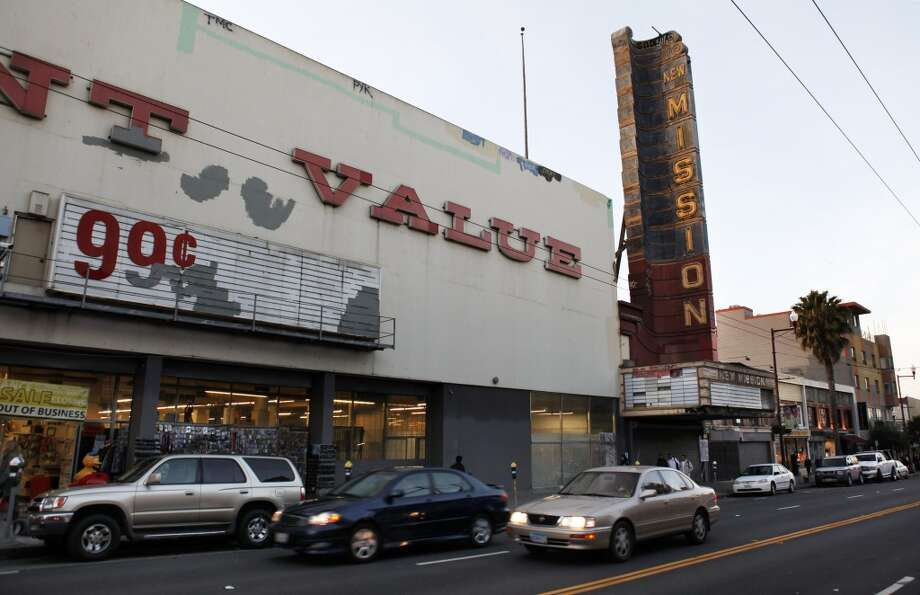 "The New Mission Theater, 2550 Mission St.Historic landmark had been in disrepair, but is on track to become an Alamo Drafthouse and condo complex. In a May 7 Facebook update, the Alamo Drafthouse said ""Permitting has taken WAY longer than expected but we are almost through the process and renovation should begin in earnest very soon. We are 100% committed to restoring and opening this space."" Photo: Carlos Avila Gonzalez, The Chronicle"