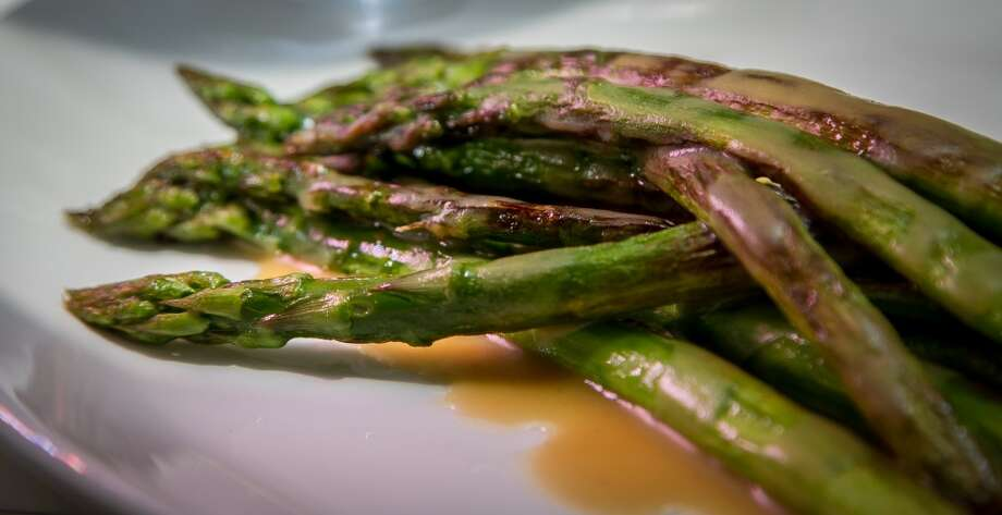 Grilled Asparagus at Trou Normand in San Francisco, Calif., is seen on Monday, June 2nd 2014. Photo: Special To The Chronicle