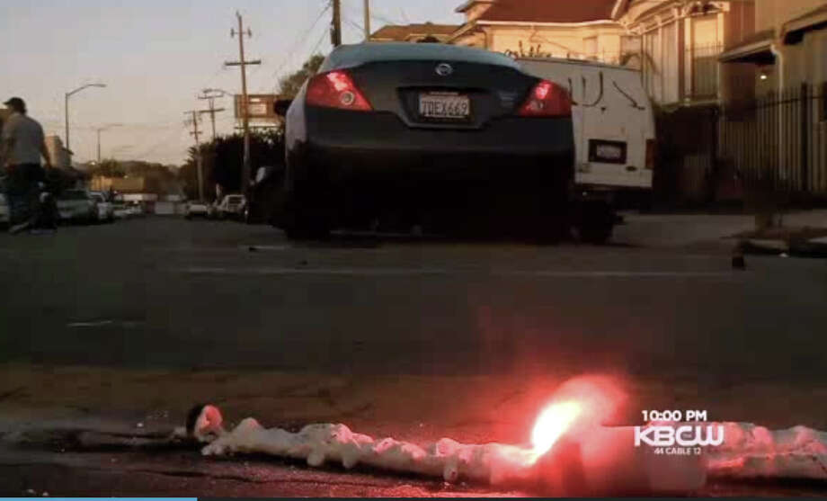 Oakland Mayor Jean Quan was one of the drivers involved in the crash Sunday night at 26th and Market streets in West Oakland. Photo: CBS San Francisco