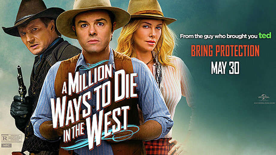 "Seth MacFarlane stars in the comedy western, ""A Million Ways to Die in the West,""  with Liam Nelson and Charlize Theron. Photo: Contributed Photo / Westport News"