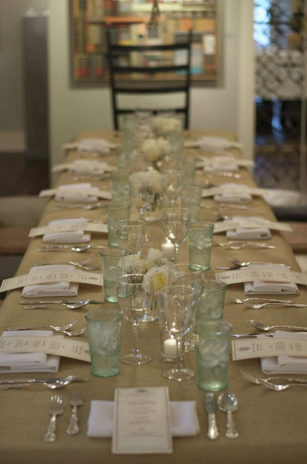 The Drawing Room Gallery in the Cos Cob section of Greenwich has been hosting an Artistís Table dinner series for about a year. It is another way to immerse the community in the art that is hanging on the gallery's walls. Chefs, inspired by the works, create a multicourse meal at each event. The next one is set for June 22, 2014. Photo: Contributed Photo / Stamford Advocate Contributed photo