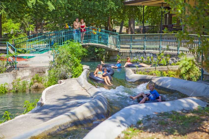 Schlitterbahn's first tubing feature, the Hillside Tube Chutes, weren't introduced in the park's inaugural year. They came one year later in 1980.