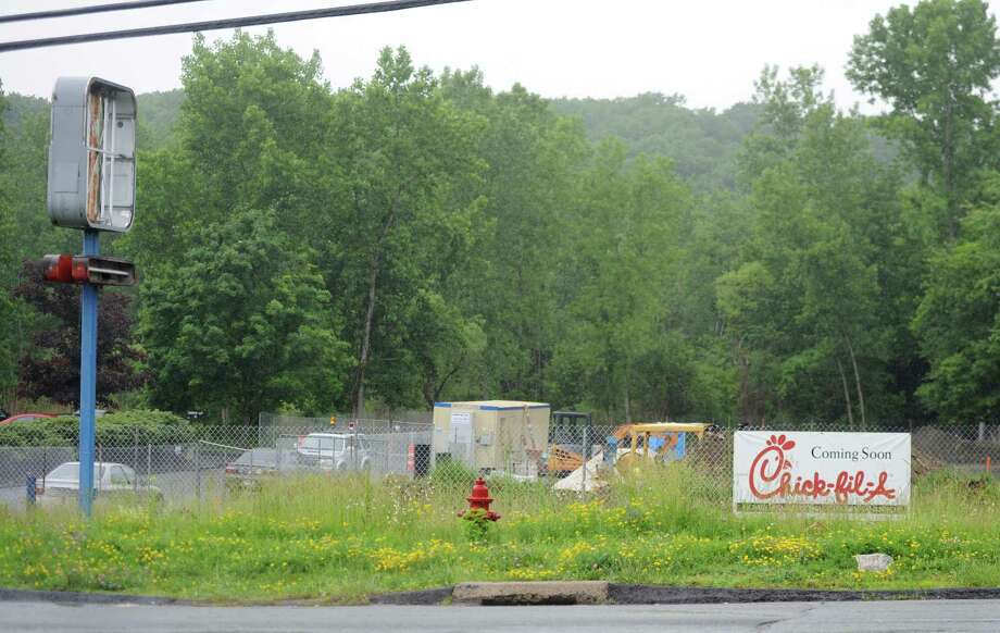 The future site of the Chick-fil-A resturant on Federal Road in Brookfield, Conn. Monday, June 9, 2014.  The fast food restaurant has over 1,700 locations in the United States, but this will be the first Chick-fil-A restaurant in the state of Connecticut. Photo: Tyler Sizemore / The News-Times