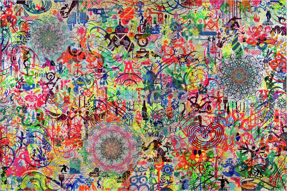 "The Lazy Logic of Ignava Ratio by Ryan McGinness is part of the ""Beauty Reigns"" exhibit at the McNay Art Museum. Photo: Photo Courtesy Of Ryan McGinness, McNay Art Museum / San Antonio Express-News"