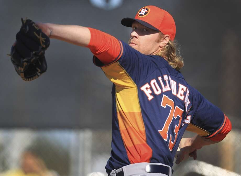 2. Mike Foltynewicz  Class AAA Oklahoma City  DOB: 10/07/1991  6-4, 220, RHP  Baseball America ranking: 4  MLB.com ranking: 5 Photo: Karen Warren, Houston Chronicle