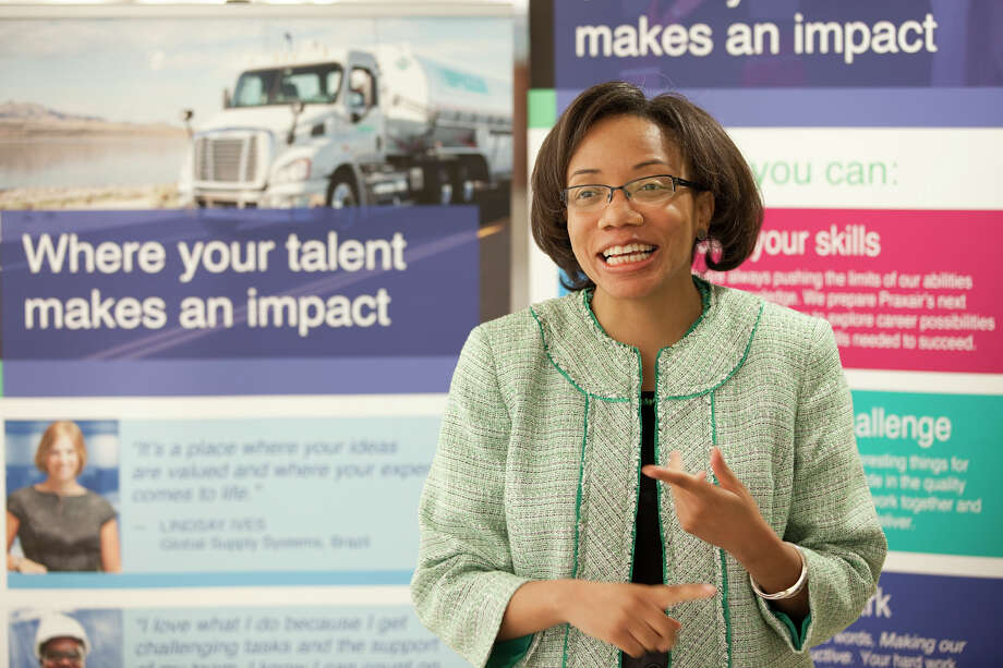 Tamara Brown, an engineer with Praxair, was recently honored as one of Fortune Magazineís Heroes of the Fortune 500 for a program she developed, Tech Savvy, that encourages young girls to enter the fields of science and technology. Photo: Contributed Photo / News-Times Contributed