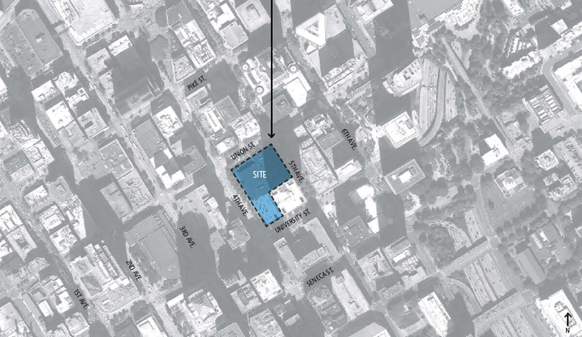 Map of the Rainier Square site.