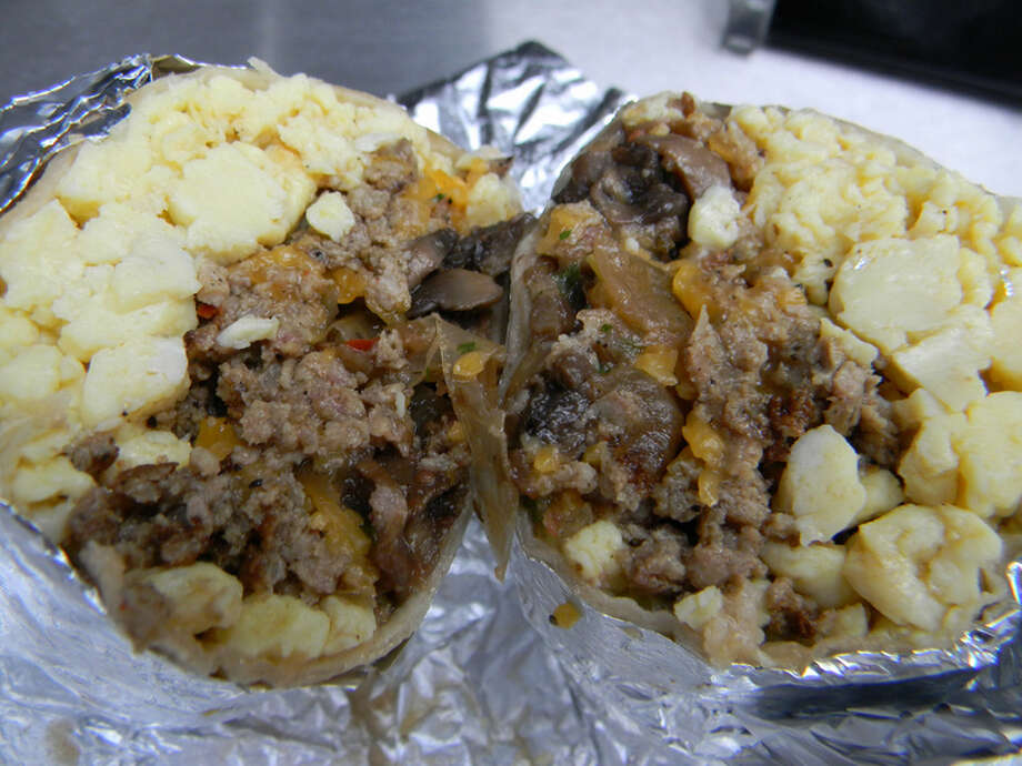The BYO burrito as served by the Breakfast Burrito Anonymous truck. Photo: Paul Galvani, For The Chronicle