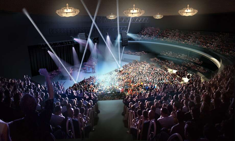 Artist's rendering shows the remodeled Masonic Auditorium in San Francisco. Photo: Live Nation
