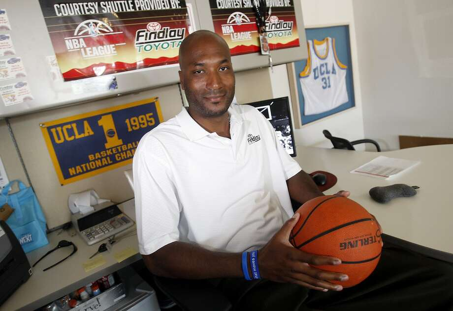 Ed O'Bannon, the lead plaintiff in a suit against the NCAA, sits in his Henderson, Nev., office, above. Photo: Isaac Brekken, Associated Press