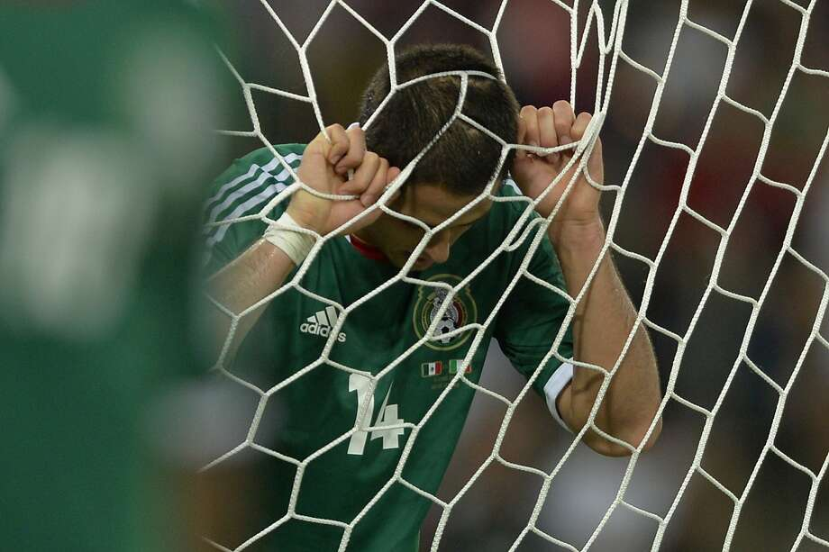 "Striker Javier ""Chicharito"" Hernandez hasn't scored a goal for the national team since last summer. Photo: Yuri Cortez, AFP/Getty Images"